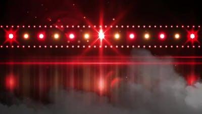 Spotlights in venue