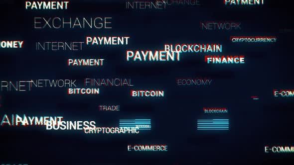 Thumbnail for E-Commerce Blockchain Words Fast Loop Glitch