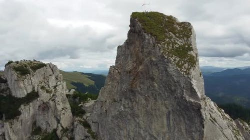 Spectacular Rock Formations In Mountains, Aerial View