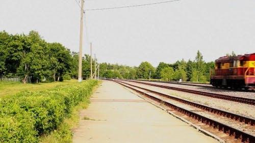Vorbeigehende Lokomotive