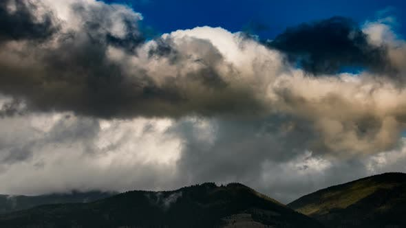 Thumbnail for Mountain Colour Landscape with Clouds in Sky