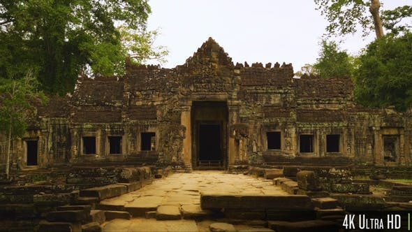 Thumbnail for 4K Doorway Entrance to Preah Khan Temple, part of Khmer Angkor Complex in Siem Reap, Cambodia