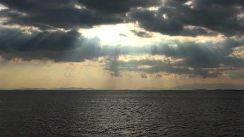 Black Sea Water And Dark Clouds