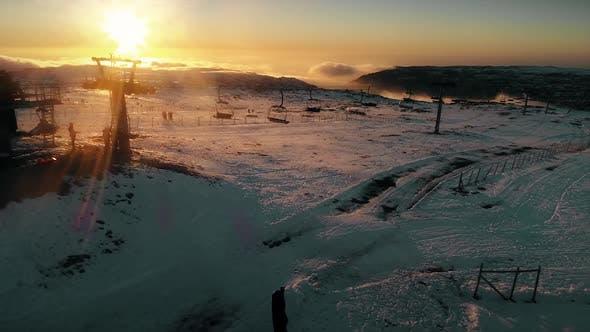 Thumbnail for Aerial Winter Sunset