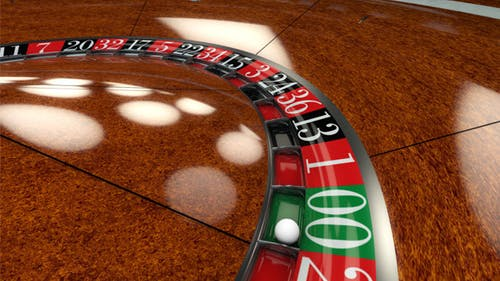 Roulette Wheel Spin Close Up