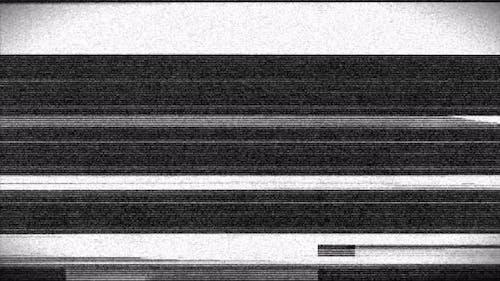 Glitch Black and white noise