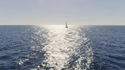 Sailboat in the Mediterranean