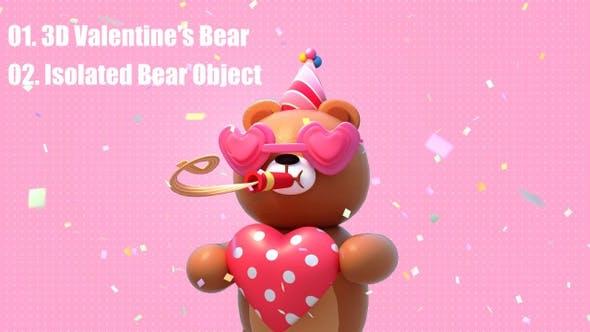 Thumbnail for 3D Valentine's Bear Pack