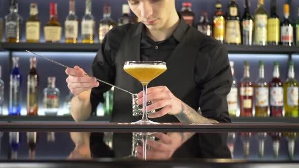 Thumbnail for Barman Making Alcoholic Drink