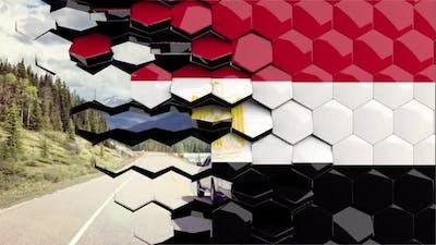 Egypt Flag Hexagon Transition - 4K Resolution