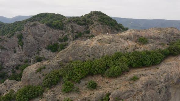 Top of a high mountain in Calabria