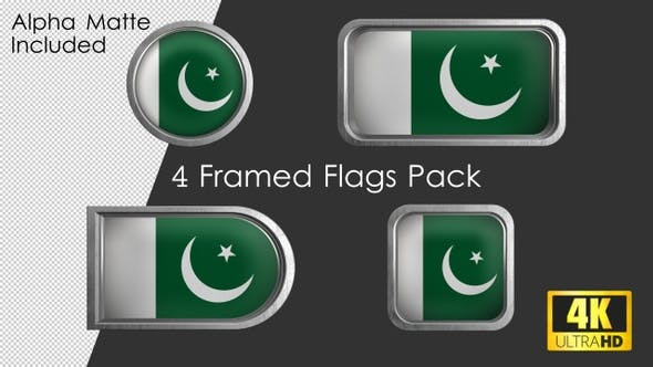 Thumbnail for Framed Pakistan Flag Pack