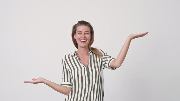 Thumbnail for Beautiful Woman Gesturing with Arms Out