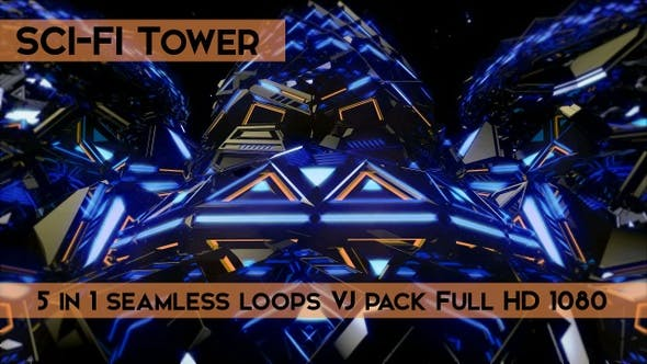 Thumbnail for Sci Fi Tower VJ Loops