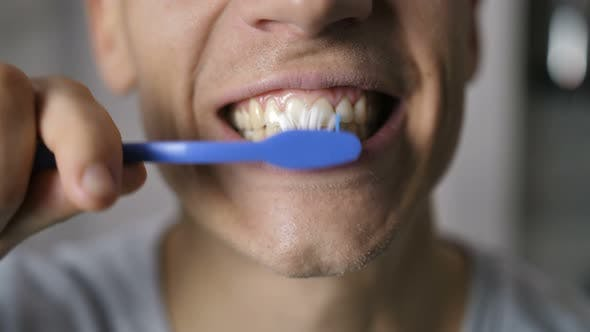 Thumbnail for Male Mouth Brushing Teeth