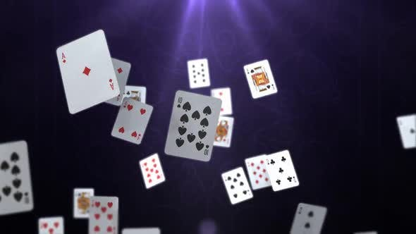Thumbnail for Playing Cards Falling Down - 4K
