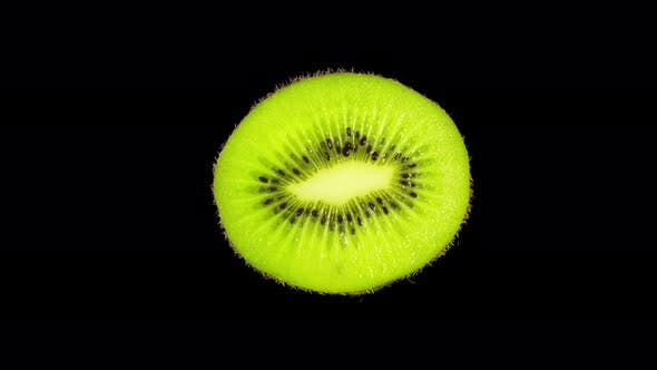 Thumbnail for Rotating Isolated Kiwi Slice