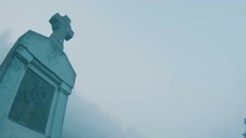 Cross In Fog Morning