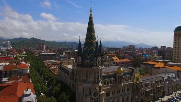 Thumbnail for Building with Astronomical Clock Near Europe Square in Batumi Georgia, Landmark