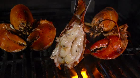 Lobster Tail on the Grill