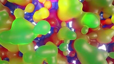 Colorful Liquid Bubbles