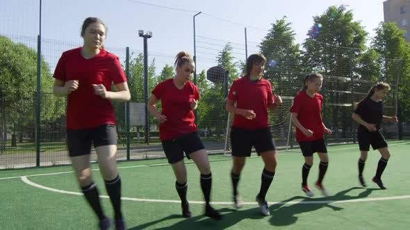Thumbnail for Sportswomen Training on Soccer Field