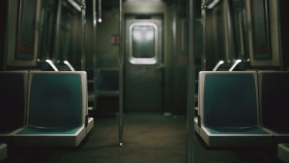 Thumbnail for Inside of the Old Non-modernized Subway Car in USA