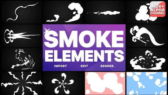 Thumbnail for Smoke Elements Pack 05 | Motion Graphics