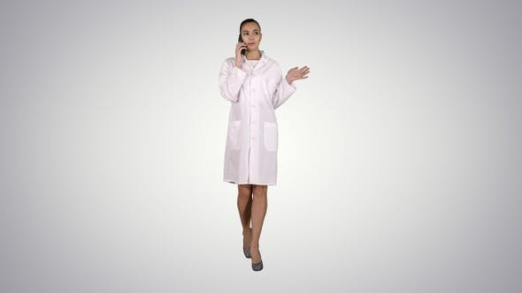 Thumbnail for Confident Female Doctor Healthcare Professional Talking