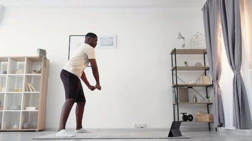 Home Training Casual Black Man Sport Beginner