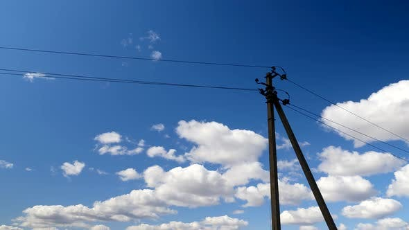 Thumbnail for Electric Line Pylons Against a Blue Sky