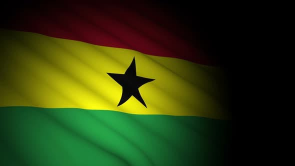 Thumbnail for Ghana Flag Blowing in Wind