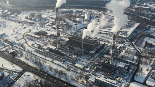 Thumbnail for Factory polluting air during winter