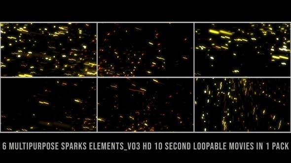 Thumbnail for Multipurpose Sparks Element Pack V03
