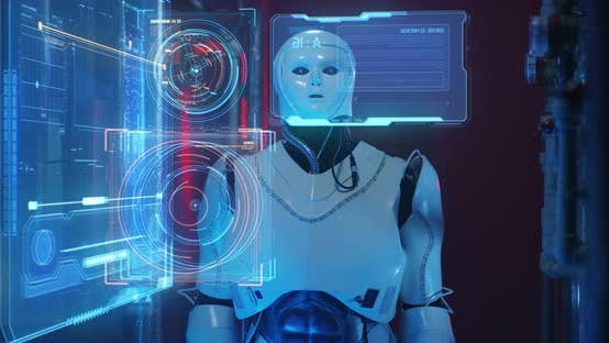 Cover Image for Robot Examining Holographic Display