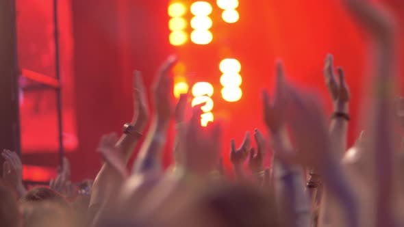 Thumbnail for People Applauding To the Singer Performing at Music Festival