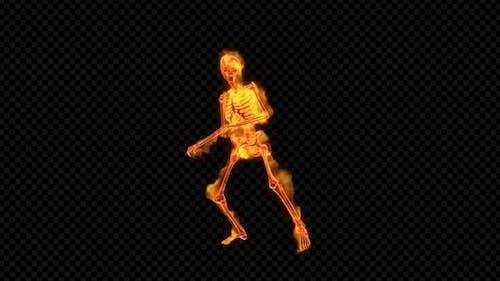 Fiery Skeleton Rock-n-Roll Dance
