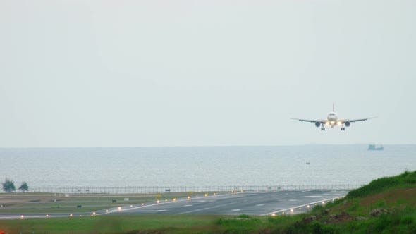 Thumbnail for Airplane Approaching Before Landing