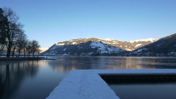 Thumbnail for Lake Zell in Austria on a winter day