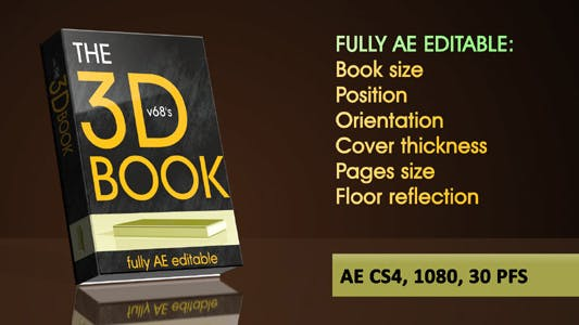 Thumbnail for 3d Book on Reflecting Floor with Flipping Pages