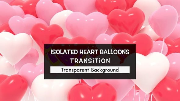 Isolated Heart Balloons Transition