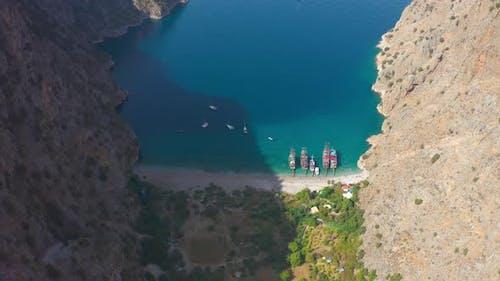 Amazing Beach of the Butterfly Valley Fethiye Oludeniz Mugla Turkey