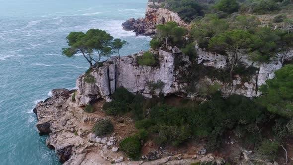 Thumbnail for Flight Over Beautiful Seashore at Mallorca