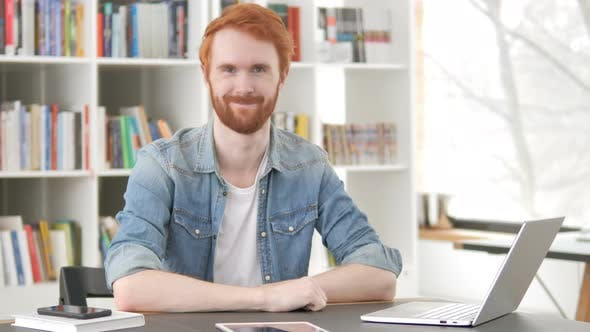 Thumbnail for Yes, Casual Redhead Man Accepting Offer at Work