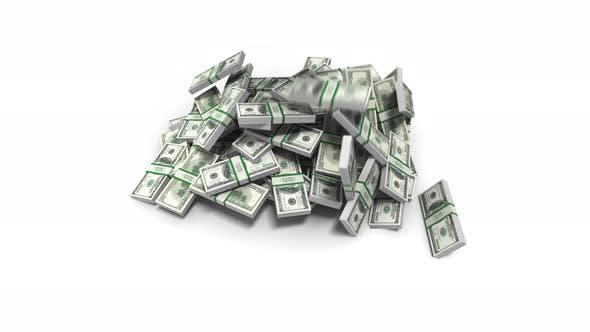 Money Bills Falling