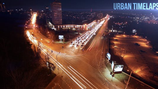 Thumbnail for Urban Traffic Night Timelapse