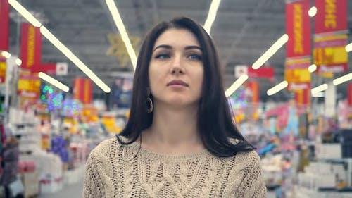 Supermarket Shopping Girl Woman Fruit Food Buy
