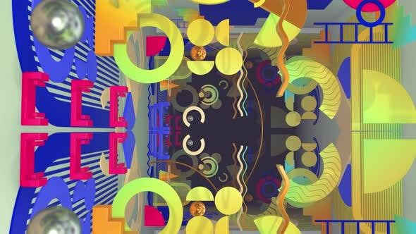 Thumbnail for Flat Style 3 D Geometry 03 4K