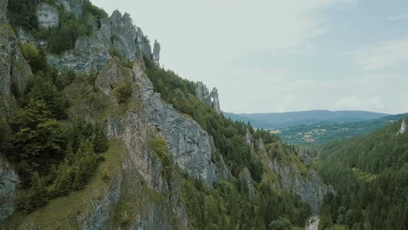 Thumbnail for Aerial View of Mountains and Beautiful Deep Gorge with Amazing Rock Formation