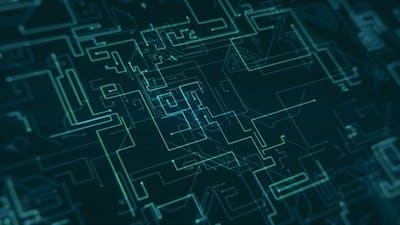 Futuristic Digital Background 4K